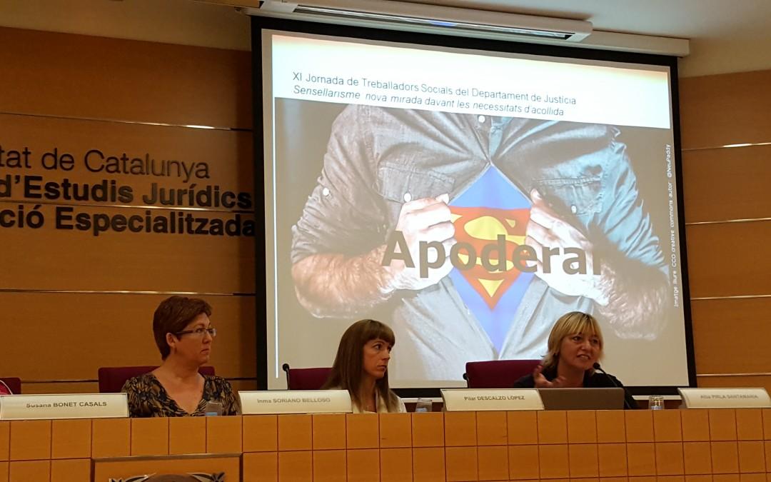 """Crónica de la XII Jornada de Trabajadores Sociales del Departamento de Justicia de la Generalitat de Cataluña la cual llevaba por título """"Sinhogarismo: nueva mirada ante las necesidades de acogida"""""""
